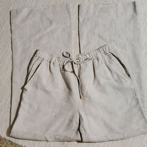 Michael kors linen chambray pants